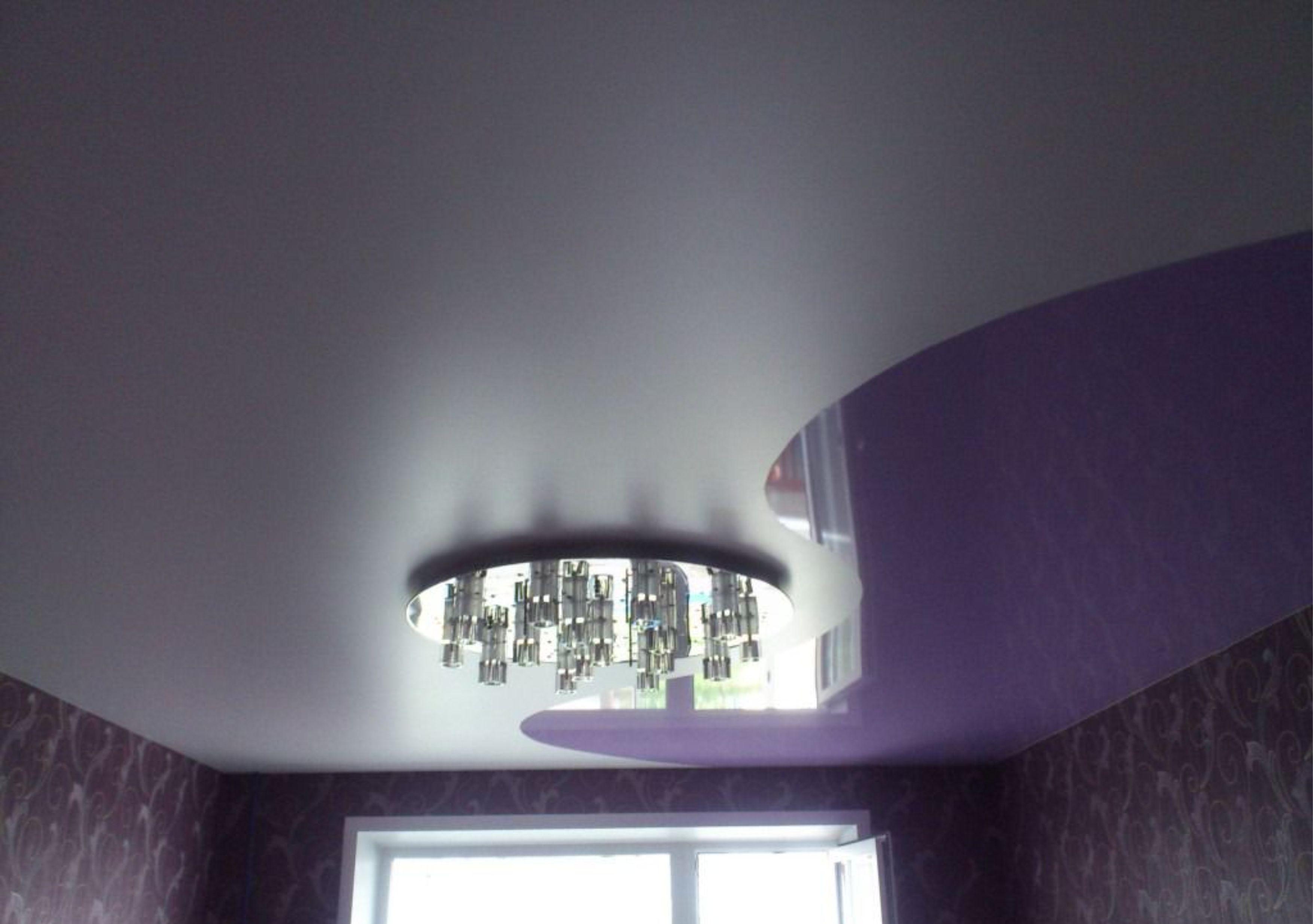 потолок комбинированный натяжной фото