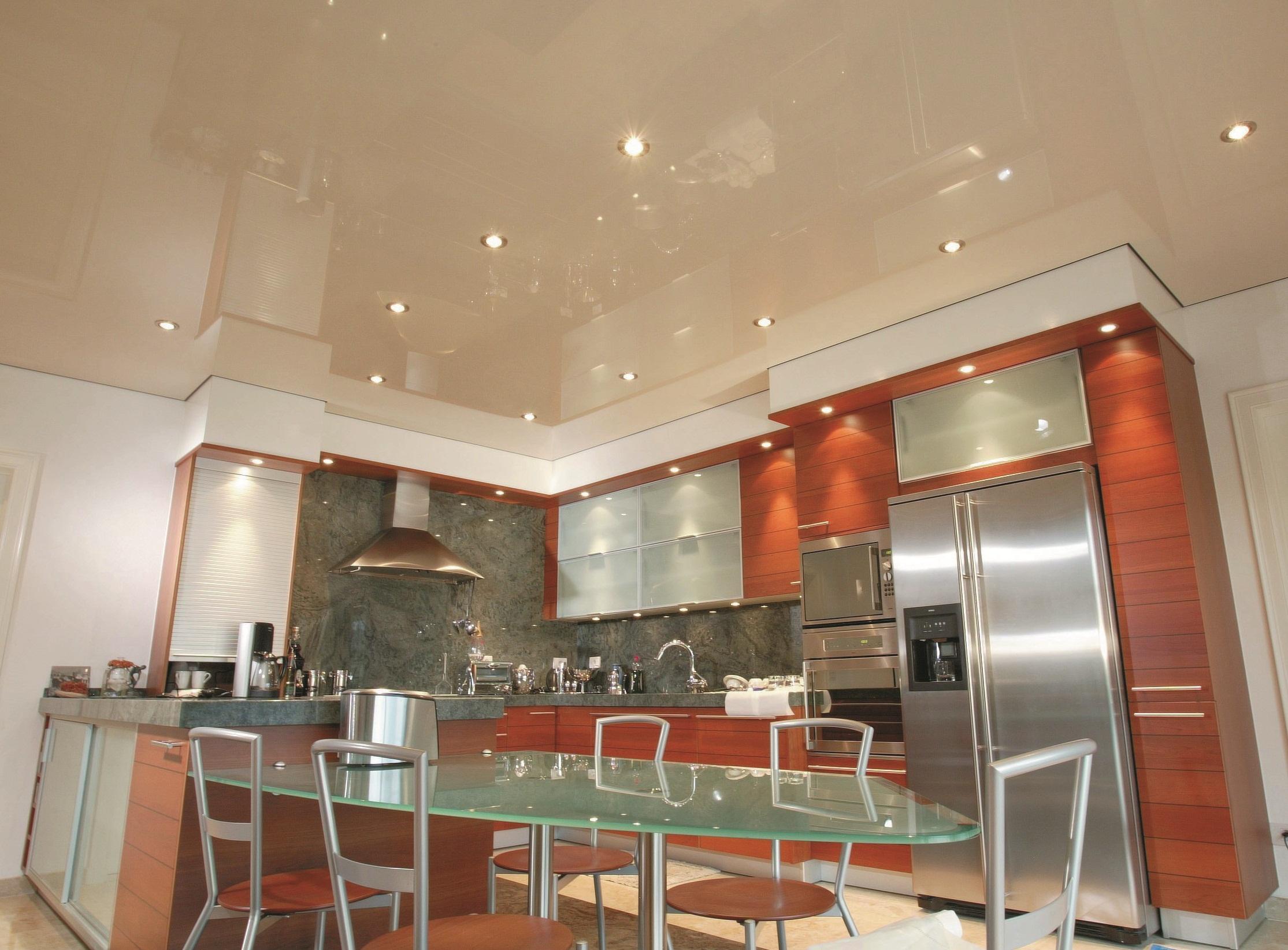 заказать натяжной потолок на кухню