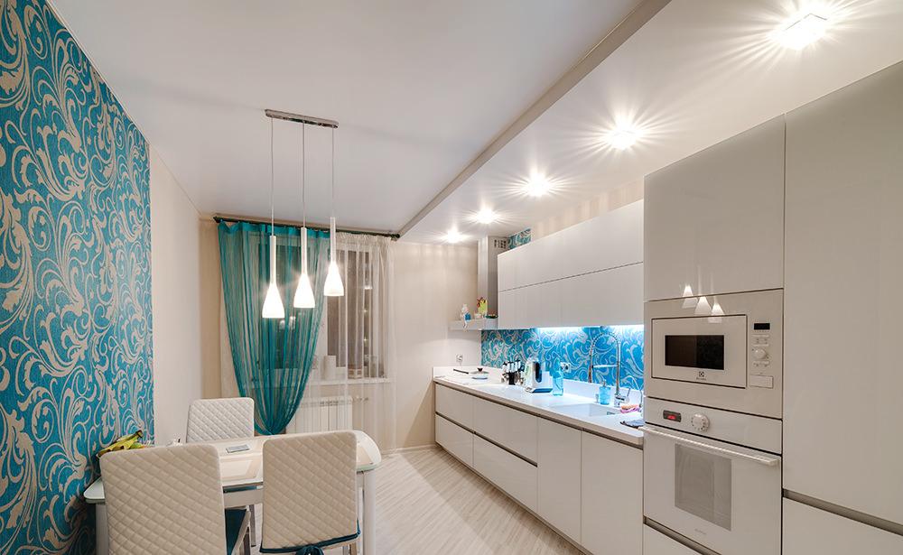 купить натяжные потолки для кухни