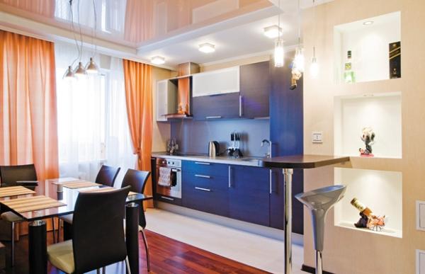 купить натяжной потолок на кухню на заказ в минске